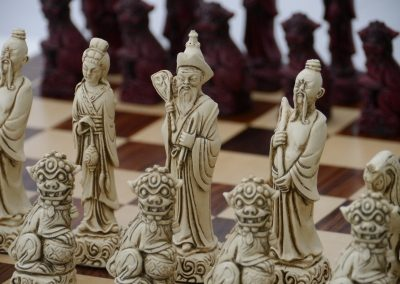 Mandarin Chessmen Cardinal Red1