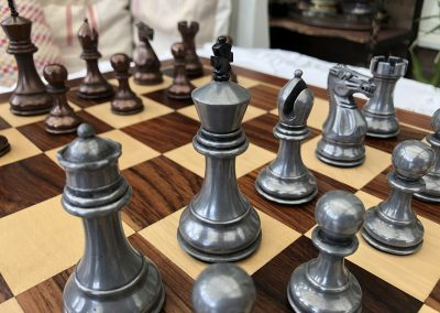 Staunton Chessmen Metallic2